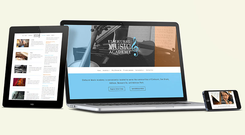 Elmhurst Music Academy Website Design
