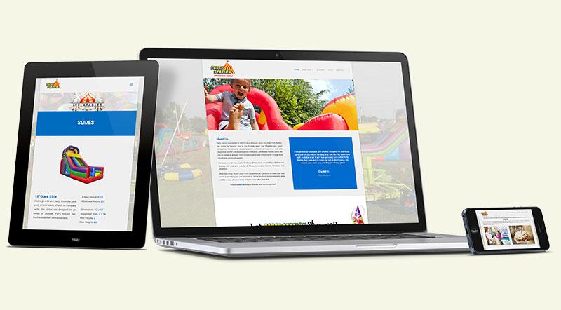Party Station Inflatables Website Design