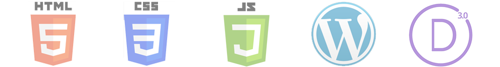 Web Design Technologies: HTM5, CSS3, Javascript, WordPress